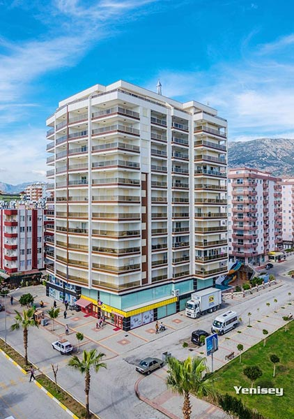 Modern sea view high-rise apartments for sale in Alanya