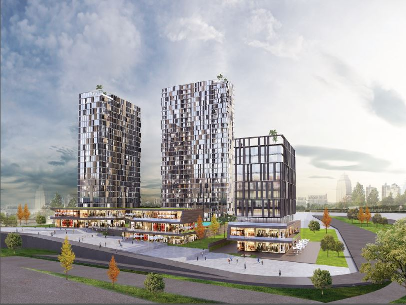 Modern residences right by the airport in Bagcilar Istanbul