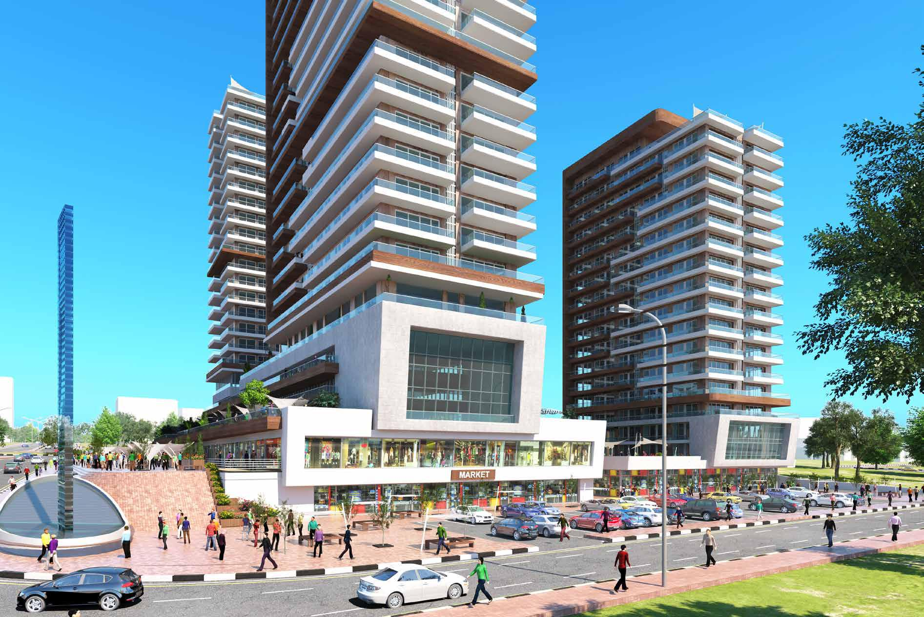 Modern Apartments for sale in Istanbul Basin Ekspress Road